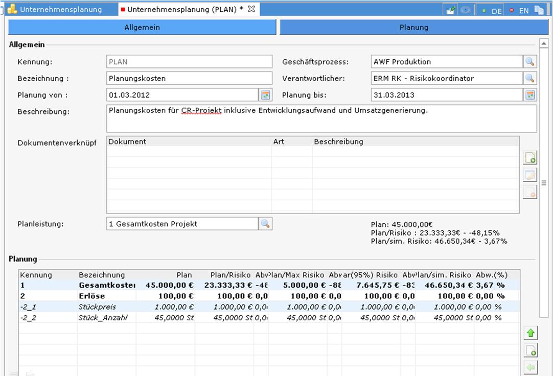 enrisma Risikomanagement Software Unternehmensplanung